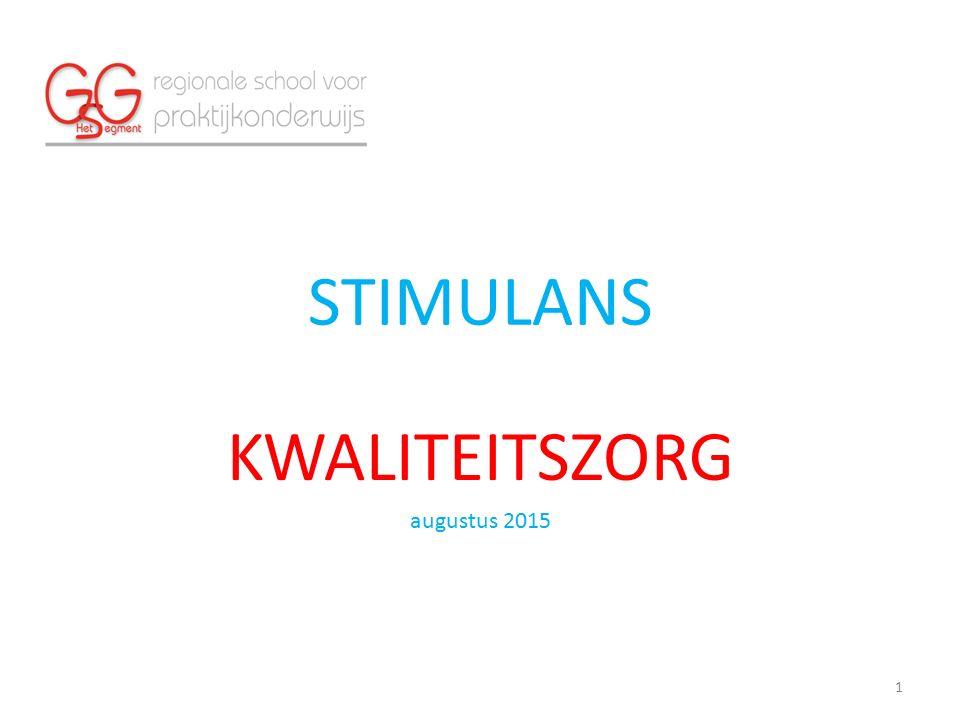 STIMULANS KWALITEITSZORG augustus 2015 1