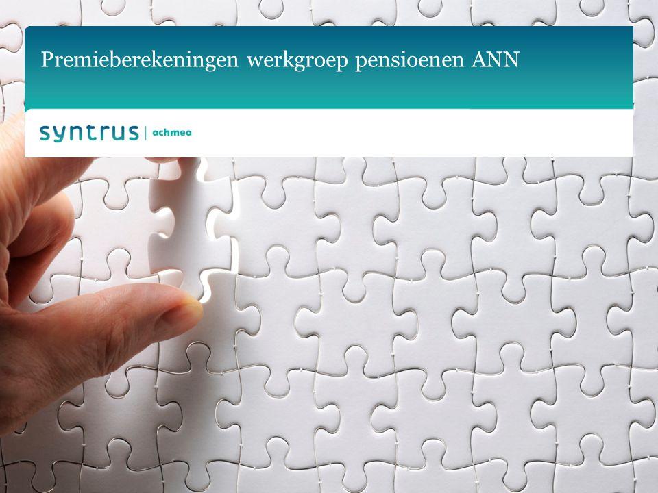 Premieberekeningen werkgroep pensioenen ANN