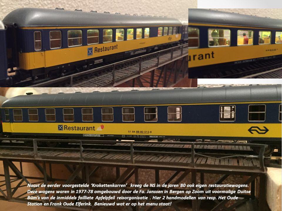 Tekst en foto's Theo Nagel Naast de eerder voorgestelde 'Krokettenkarren' kreeg de NS in de jaren 80 ook eigen restauratiewagens.