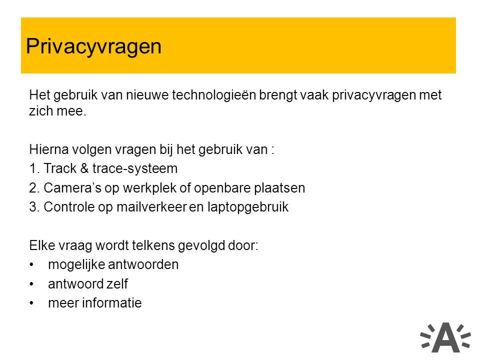 Het gebruik van nieuwe technologieën brengt vaak privacyvragen met zich mee.