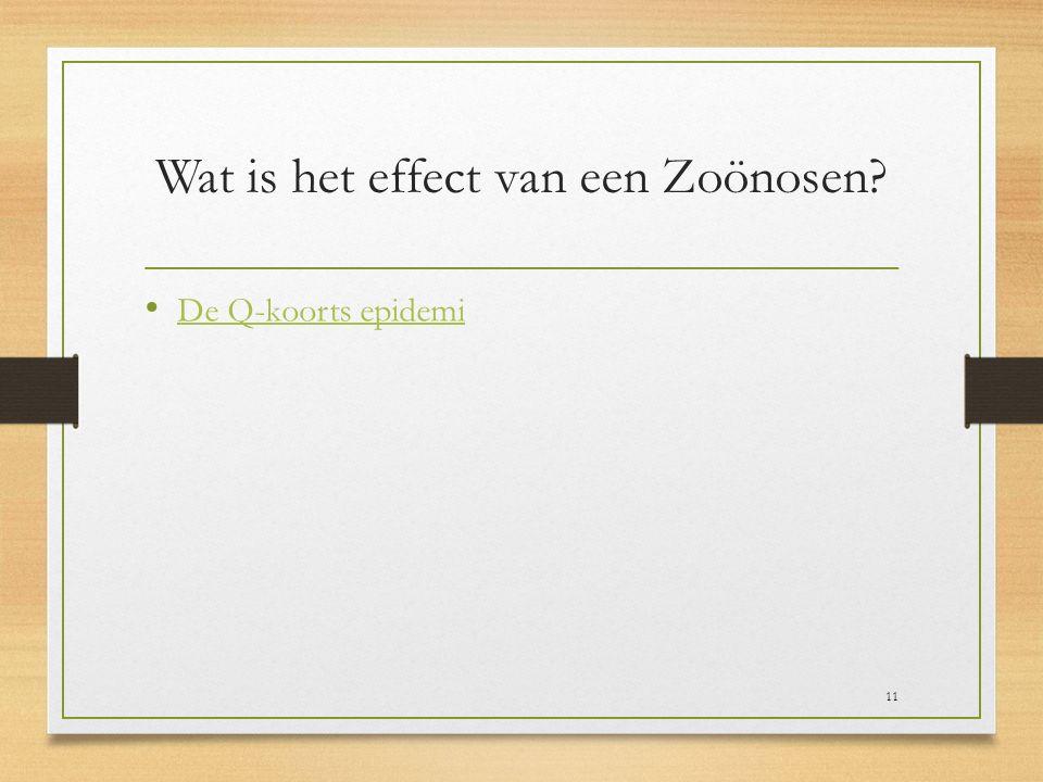 Wat is het effect van een Zoönosen? De Q-koorts epidemi 11