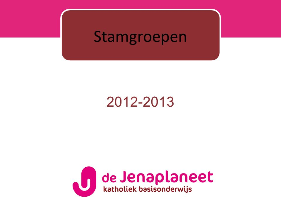2012-2013 Stamgroepen