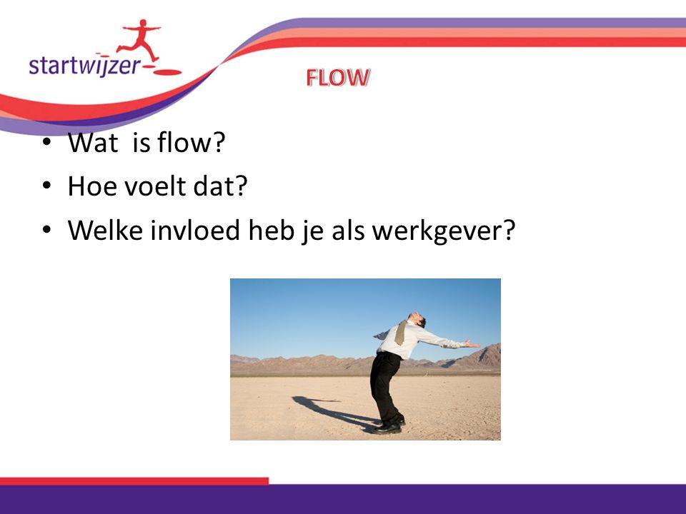 Wat is flow? Hoe voelt dat? Welke invloed heb je als werkgever?