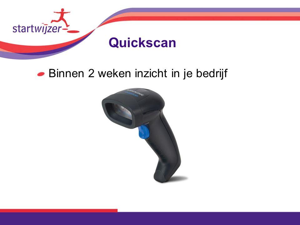Quickscan Binnen 2 weken inzicht in je bedrijf