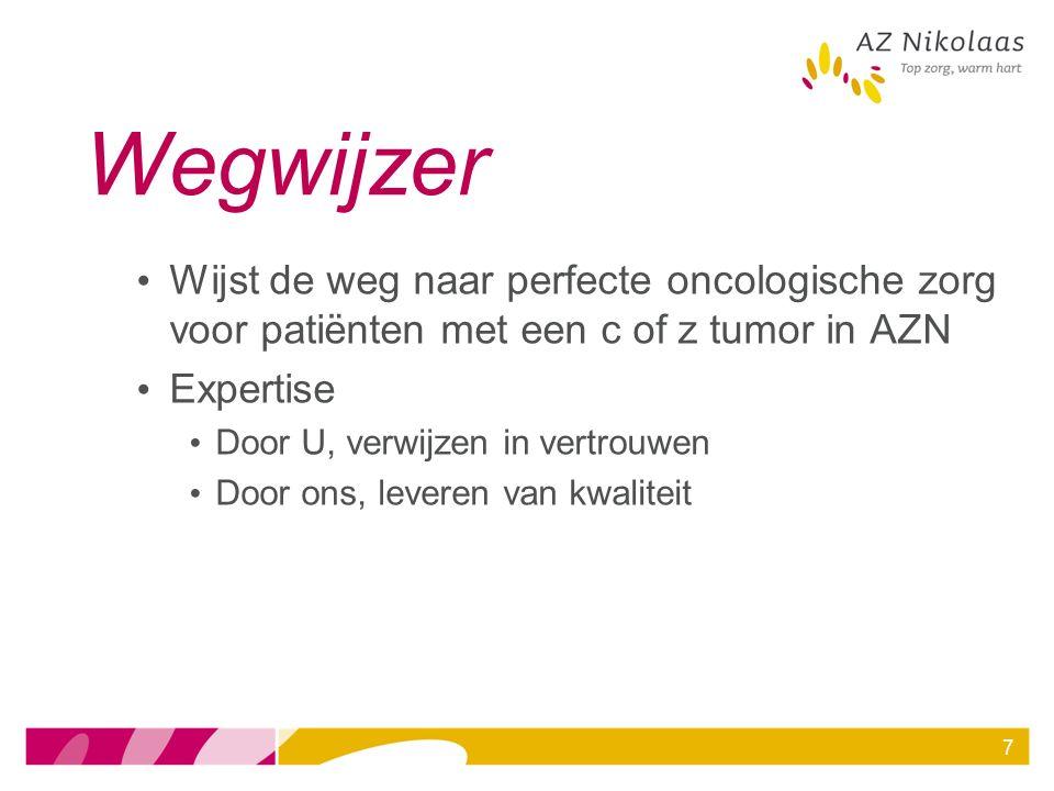7 Wegwijzer Wijst de weg naar perfecte oncologische zorg voor patiënten met een c of z tumor in AZN Expertise Door U, verwijzen in vertrouwen Door ons