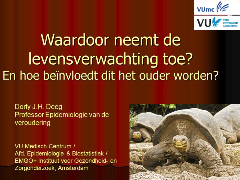 Willekeurige steekproef verspreid over Nederland 5600 mannen en vrouwen Initiële leeftijden 55-85 Start 1992, 2002, 2013 3-jarige waarnemingscycli Zwolle Oss Amsterdam Duitsland België Noordzee