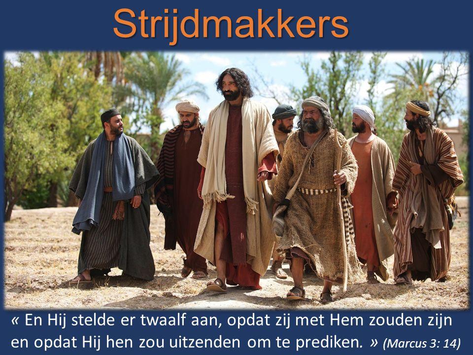 Strijdmakkers « En Hij stelde er twaalf aan, opdat zij met Hem zouden zijn en opdat Hij hen zou uitzenden om te prediken. » (Marcus 3: 14)