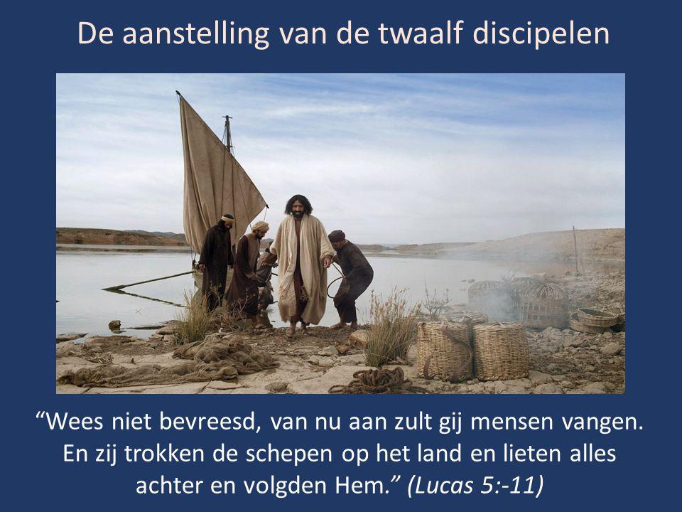 De aanstelling van de twaalf discipelen Wees niet bevreesd, van nu aan zult gij mensen vangen.