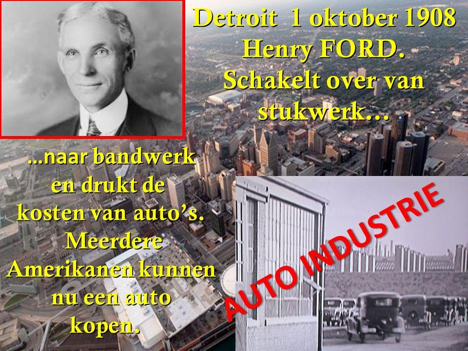 Detroit 1 oktober 1908 Henry FORD.