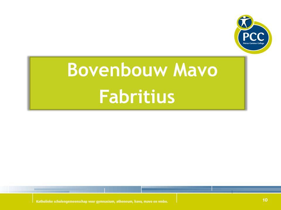 10 Bovenbouw Mavo Fabritius