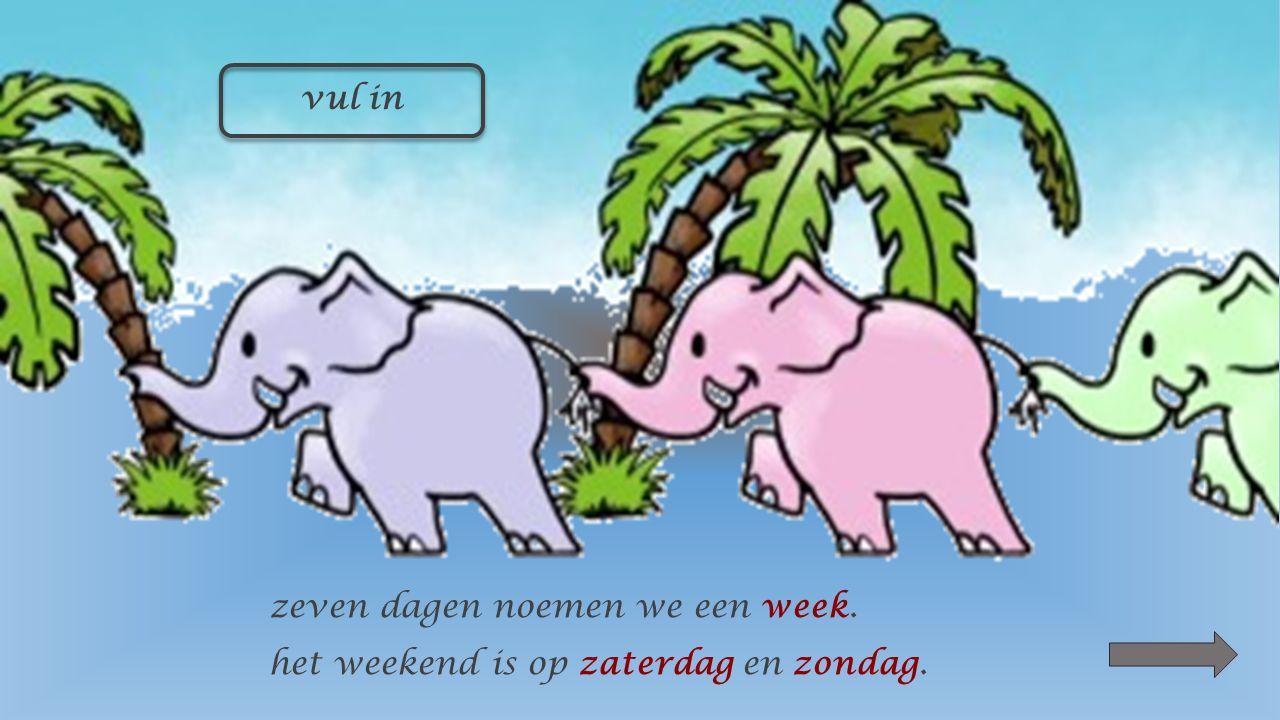 vul de dagen van de week in maandag dinsdag woensdag donderdag vrijdag zaterdag zondag