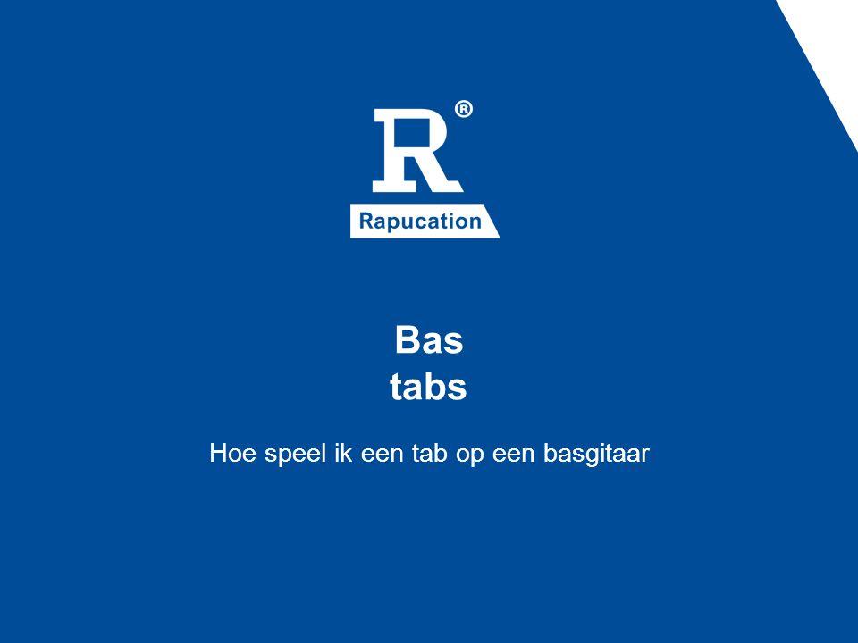 Bas tabs Hoe speel ik een tab op een basgitaar