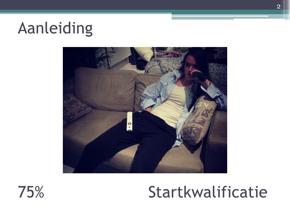 Aanleiding 2 75% Startkwalificatie