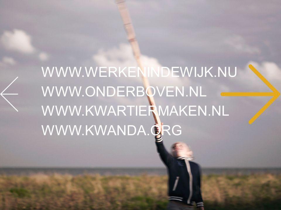WWW.WERKENINDEWIJK.NU WWW.ONDERBOVEN.NL WWW.KWARTIERMAKEN.NL WWW.KWANDA.ORG