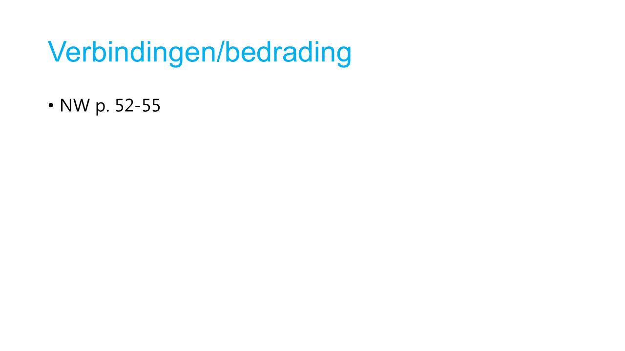 Verbindingen/bedrading NW p. 52-55
