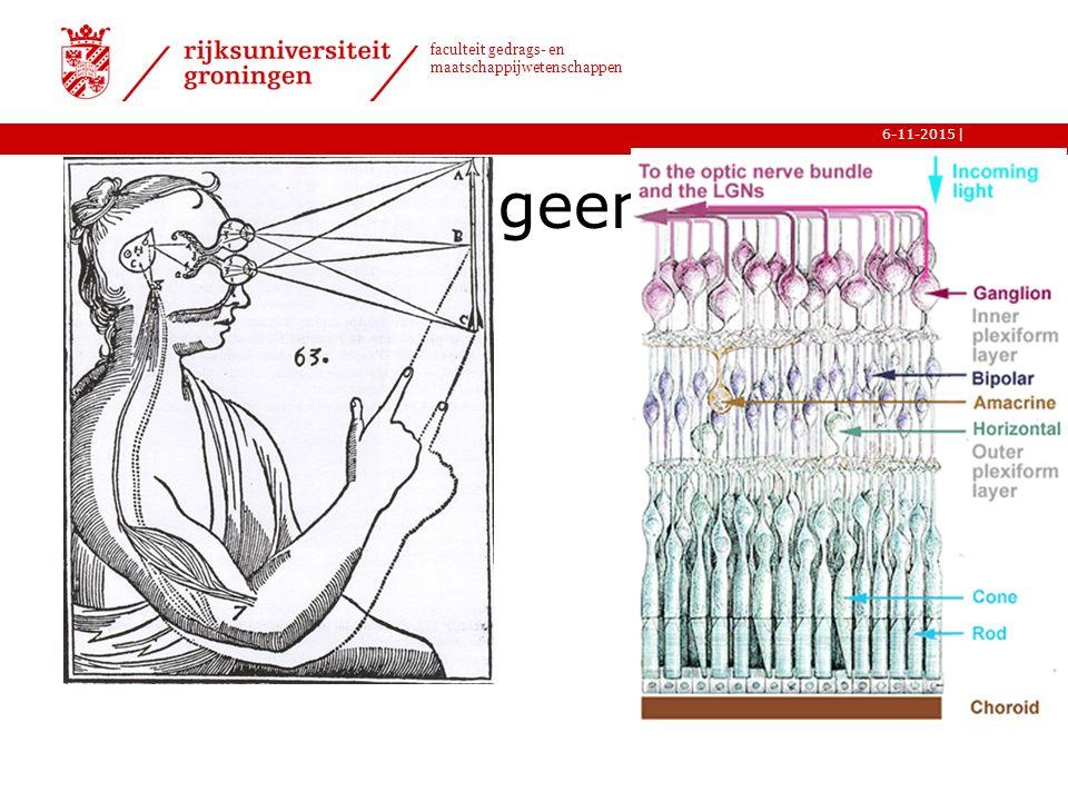 | faculteit gedrags- en maatschappijwetenschappen 6-11-2015 11 De retina is geen camera!
