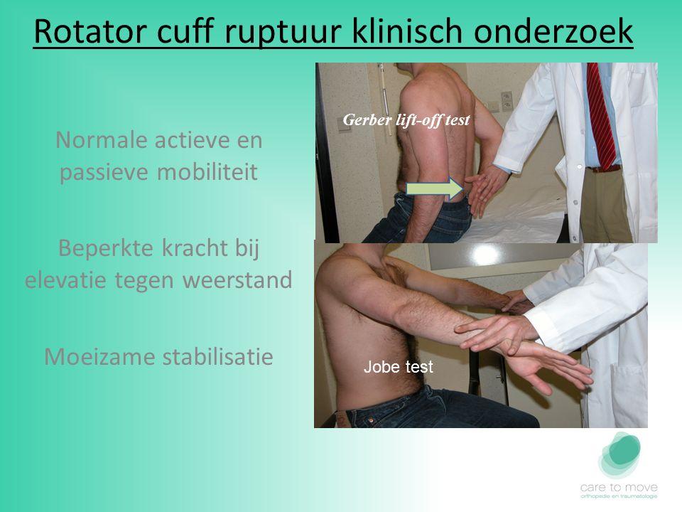Rotator cuff ruptuur RX Echo Arthrografie +ct MRI