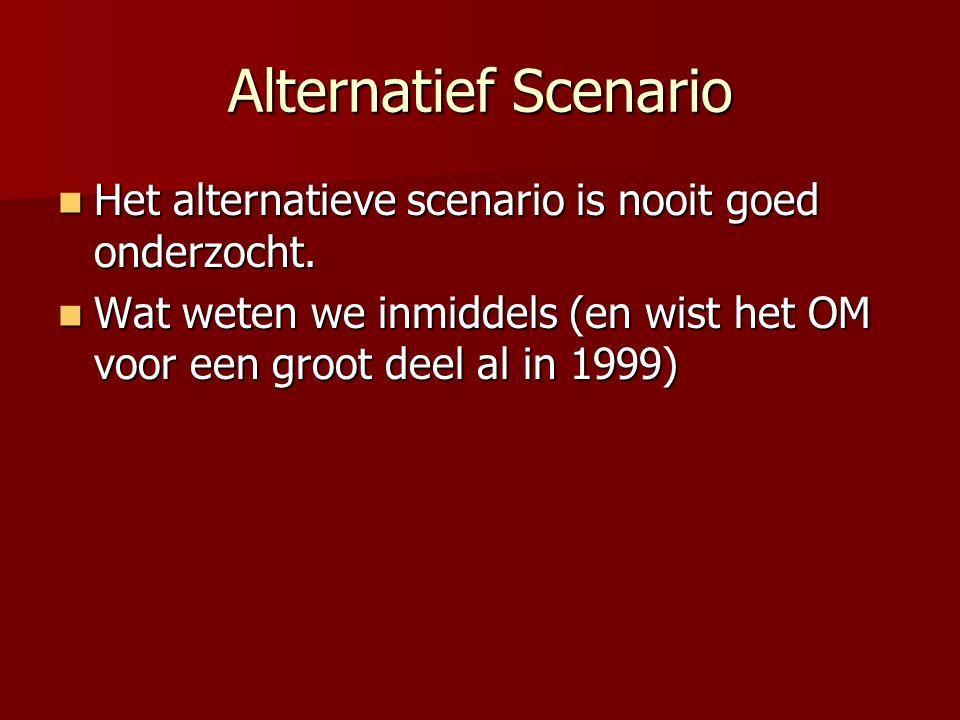 Alternatief Scenario Het alternatieve scenario is nooit goed onderzocht.