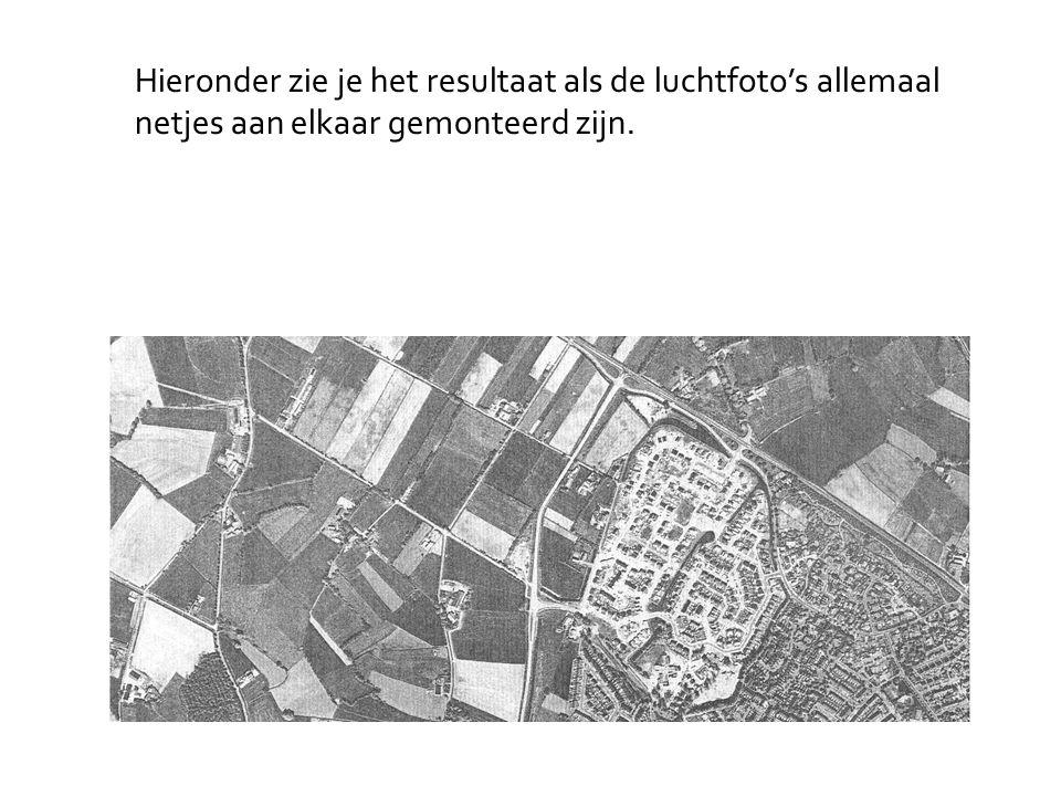 Hieronder zie je het resultaat als de luchtfoto's allemaal netjes aan elkaar gemonteerd zijn.