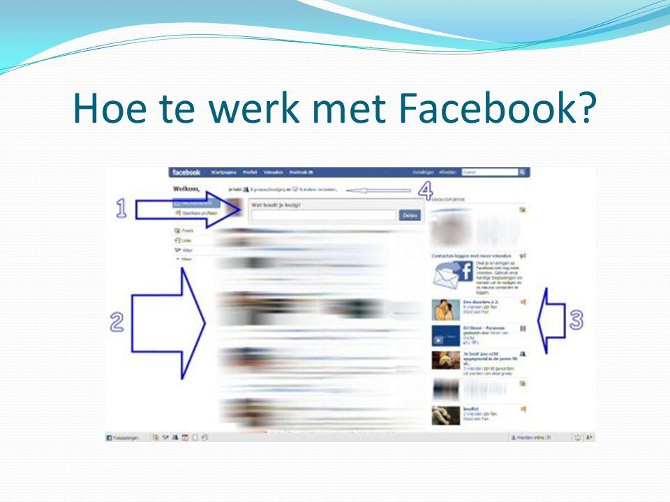 Hoe te werk met Facebook