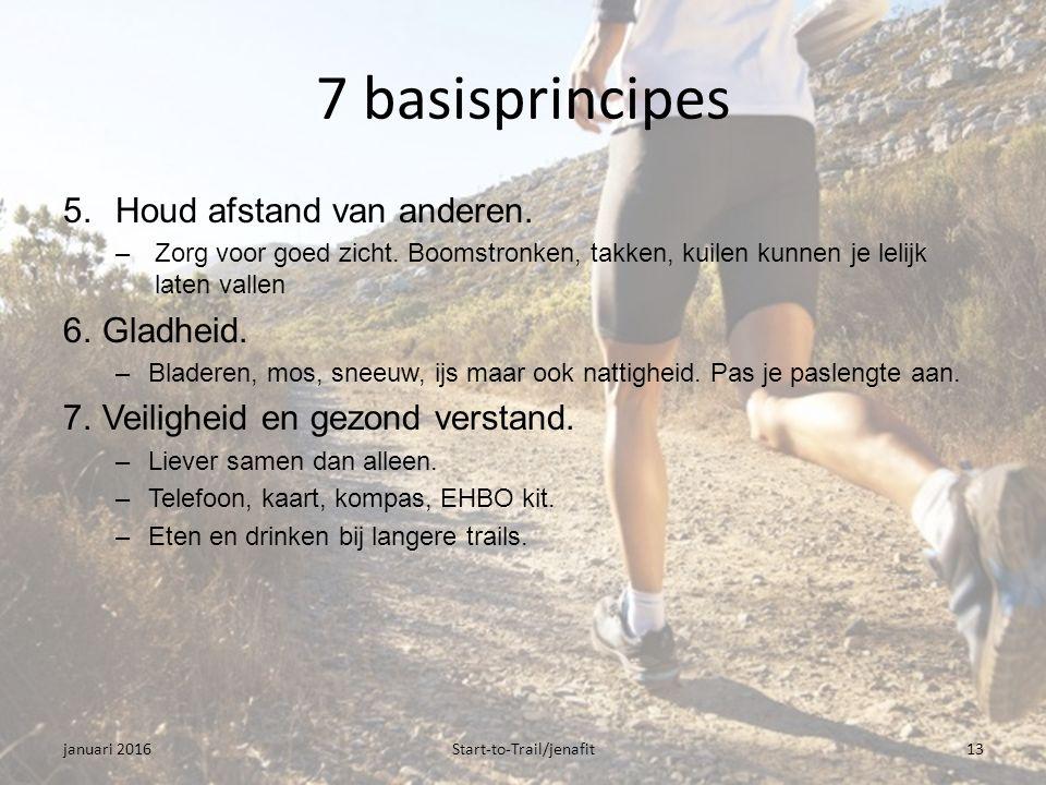 7 basisprincipes 5.Houd afstand van anderen. –Zorg voor goed zicht.
