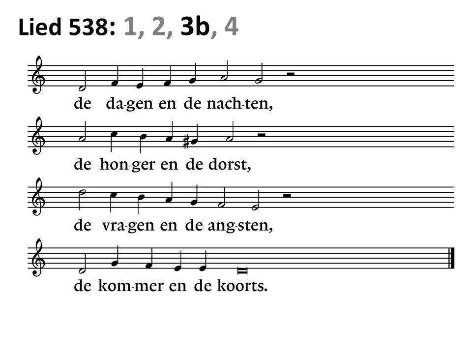 Lied 538 : 1, 2, 3b, 4