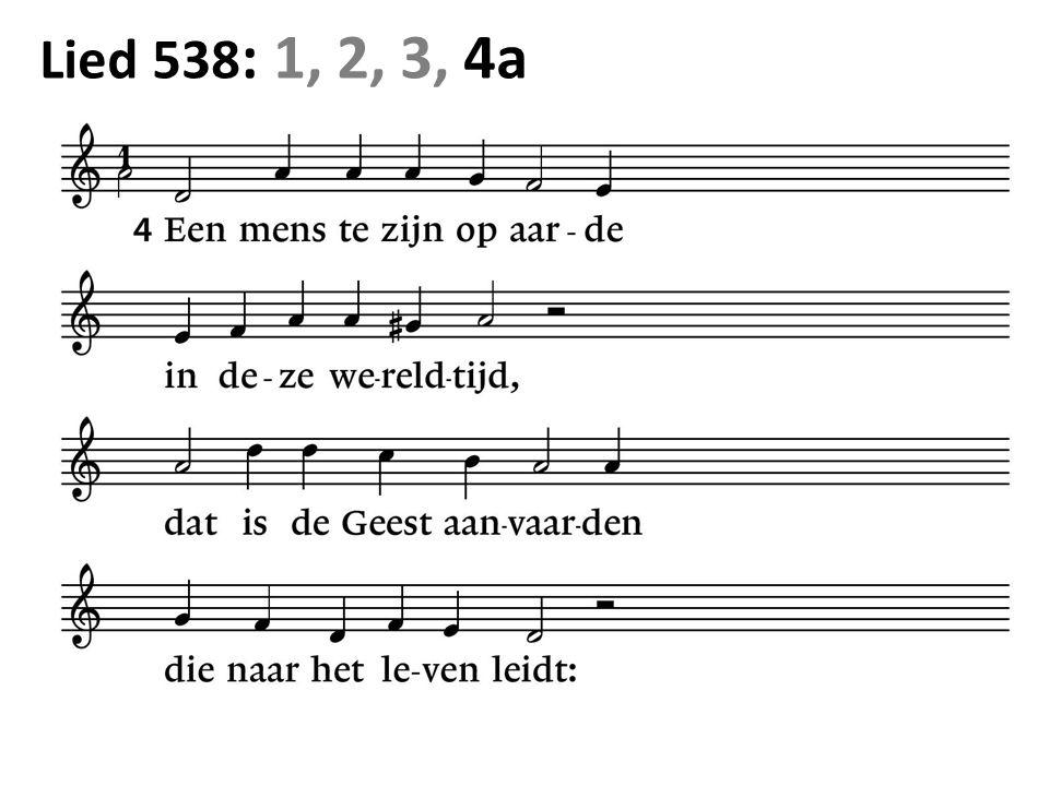 Lied 538 : 1, 2, 3, 4a