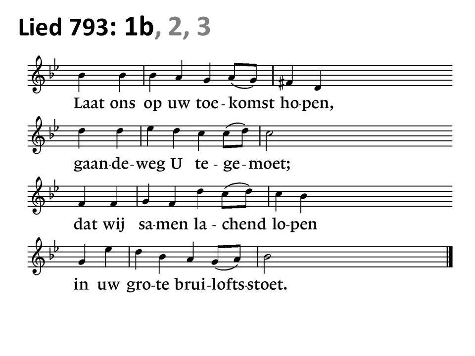 Lied 793 : 1b, 2, 3