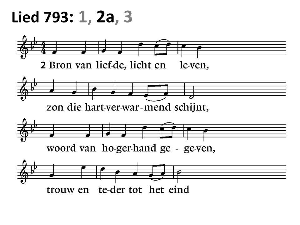 Lied 793 : 1, 2a, 3