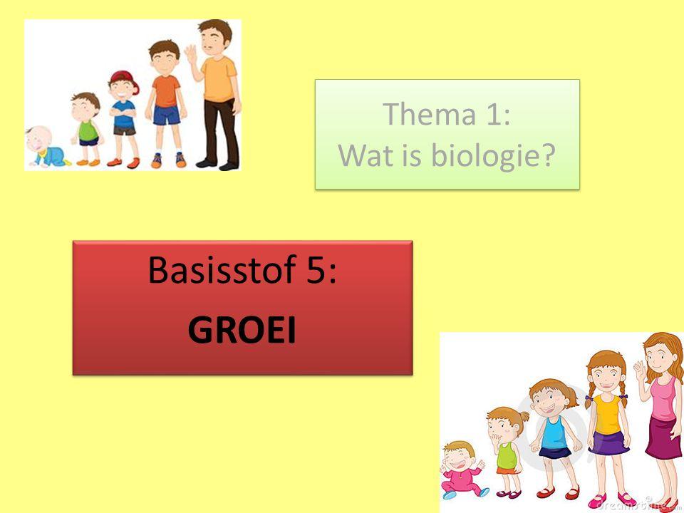 Thema 1: Wat is biologie? Basisstof 5: GROEI Basisstof 5: GROEI