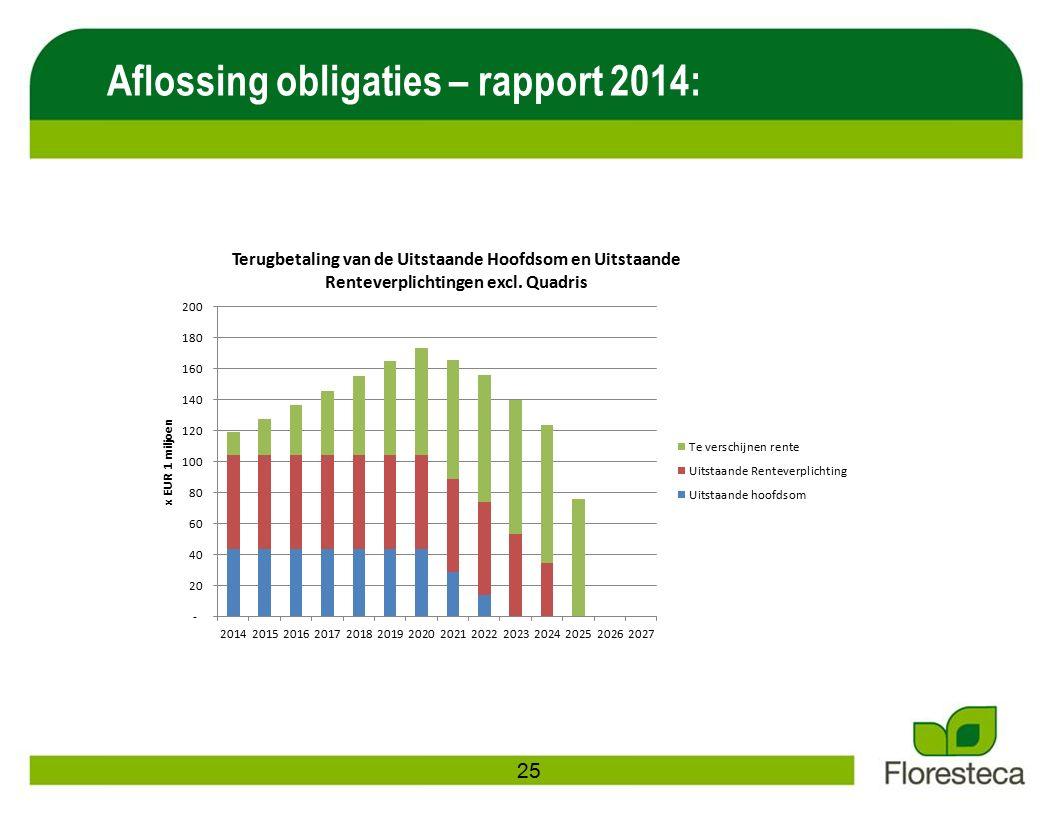 Aflossing obligaties – rapport 2014: 25