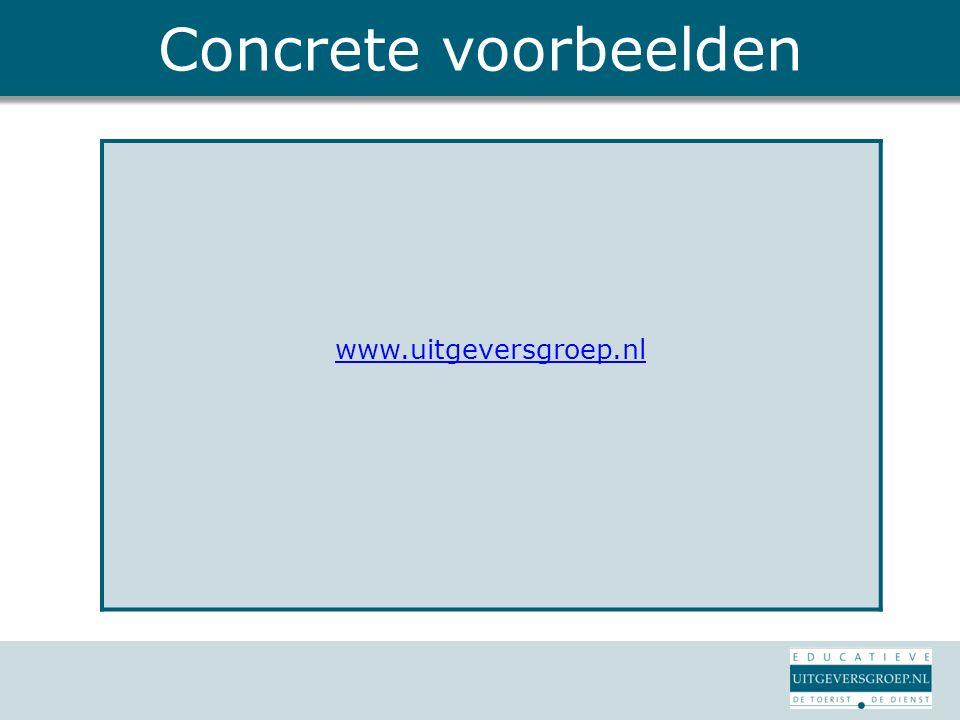 Concrete voorbeelden www.uitgeversgroep.nl
