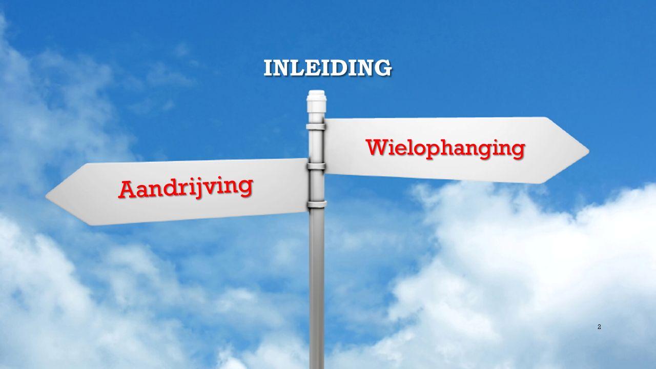 INLEIDING Wielophanging Wielophanging Aandrijving 2
