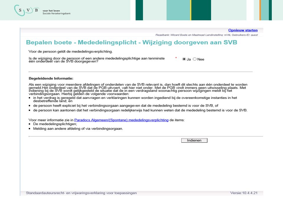 Bijna één-op-één vertaling naar implementatie Voldoet onze wizard aan de wet?15 21-05-2015 Regelfamilie Tabel in OPA Snel en transparant