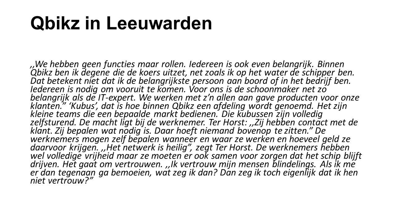 Qbikz in Leeuwarden,,We hebben geen functies maar rollen.