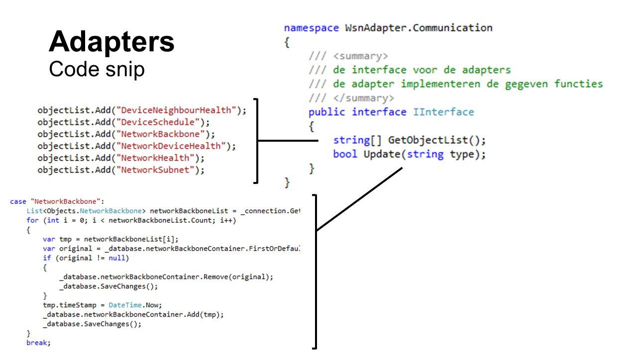 Adapters Code snip