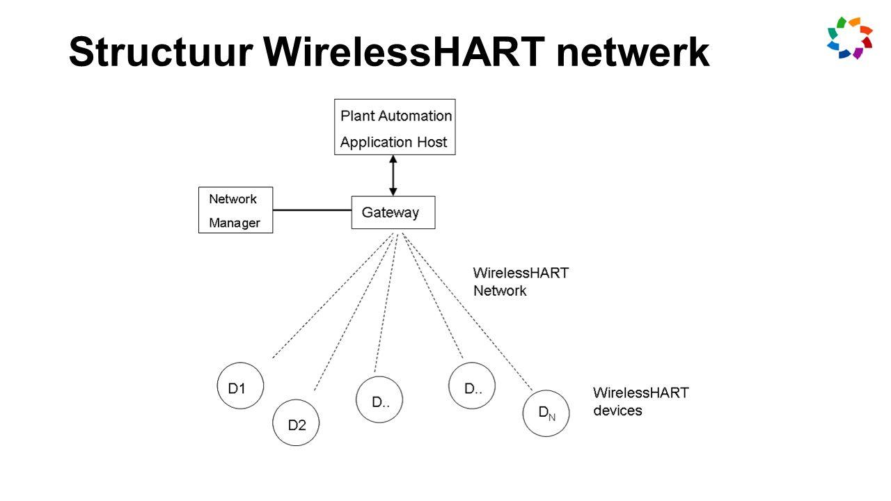Structuur WirelessHART netwerk