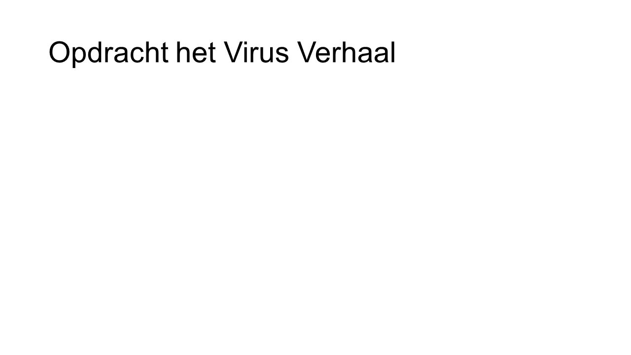 Opdracht het Virus Verhaal