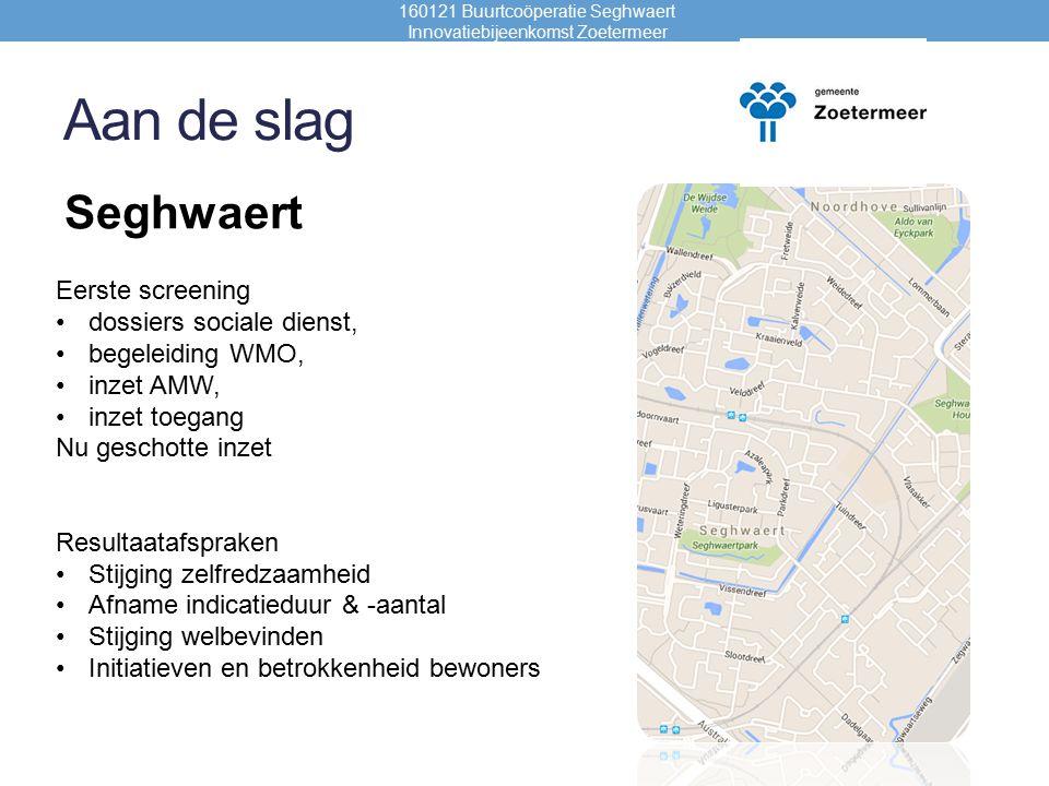 Coöperatie??.160121 Buurtcoöperatie Seghwaert Innovatiebijeenkomst Zoetermeer 1.