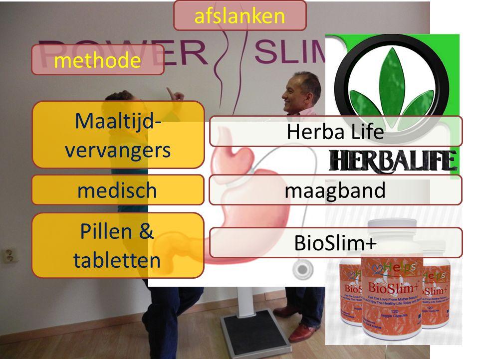 afslanken methode Maaltijd- vervangers Herba Life medischmaagband Pillen & tabletten BioSlim+