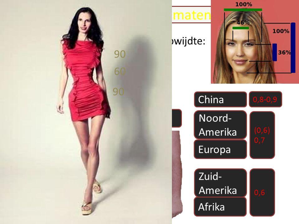 etnisch- cultureel bepaald WHR WHWH Waist Hip Ratio China ideale maten Het is van bovenwijdte, taille heupwijdte: 90-60-90 naar 85-65-85 gegaan.. (0,6