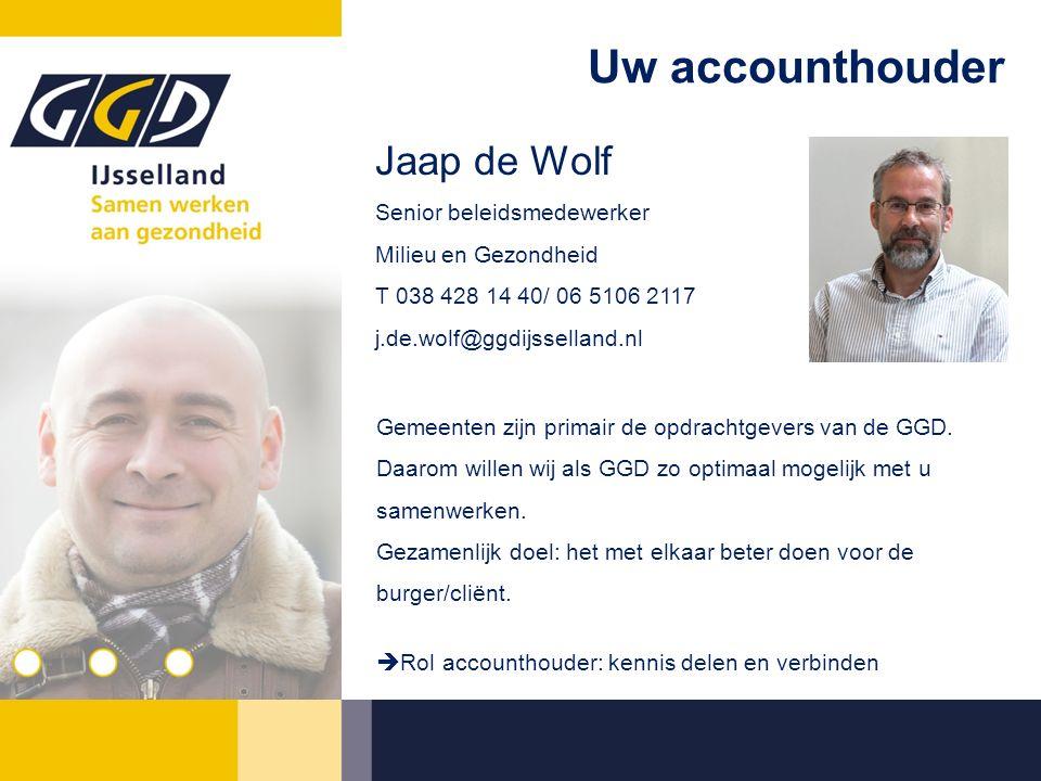 Uw accounthouder Gemeenten zijn primair de opdrachtgevers van de GGD. Daarom willen wij als GGD zo optimaal mogelijk met u samenwerken. Gezamenlijk do