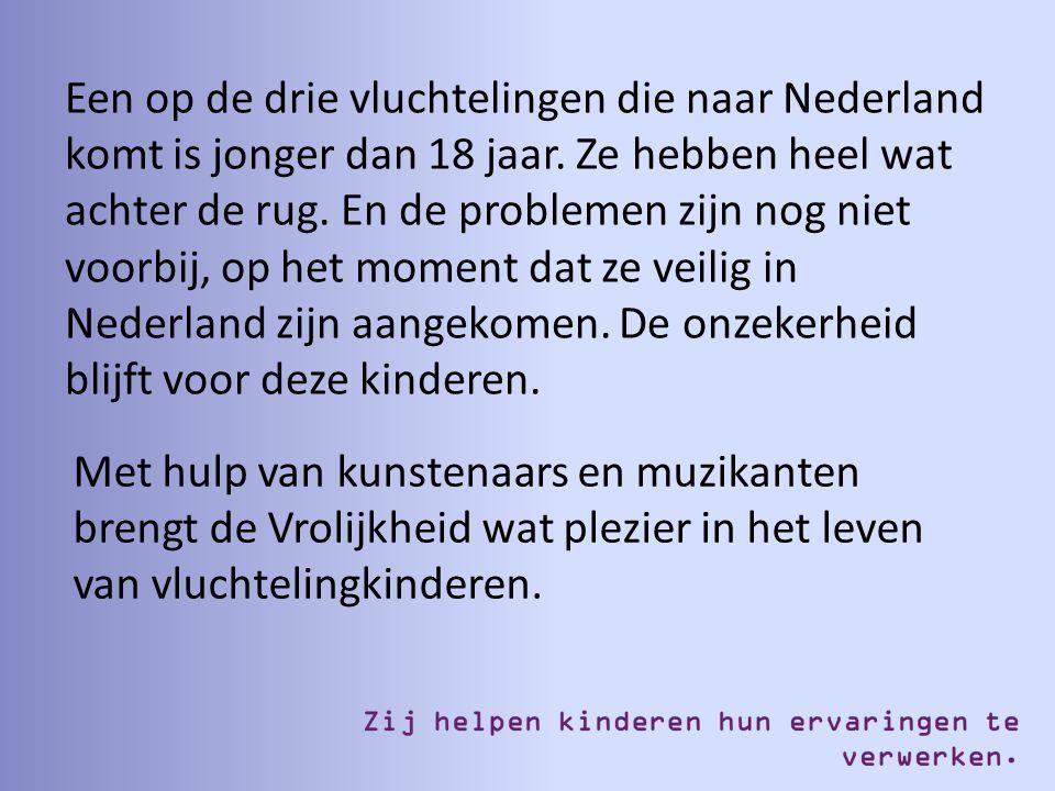 Een op de drie vluchtelingen die naar Nederland komt is jonger dan 18 jaar. Ze hebben heel wat achter de rug. En de problemen zijn nog niet voorbij, o