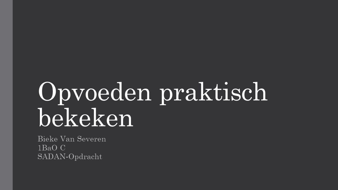 Opvoeden praktisch bekeken Bieke Van Severen 1BaO C SADAN-Opdracht