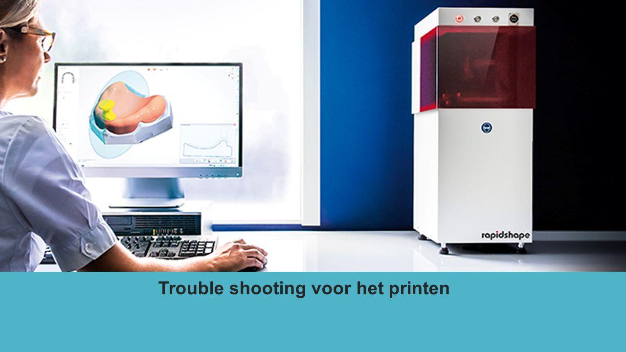 Trouble shooting voor het printen