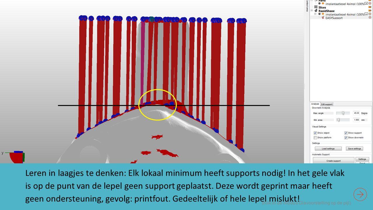 (Klik in de modus Diavoorstelling op de pijl) Leren in laagjes te denken: Elk lokaal minimum heeft supports nodig.