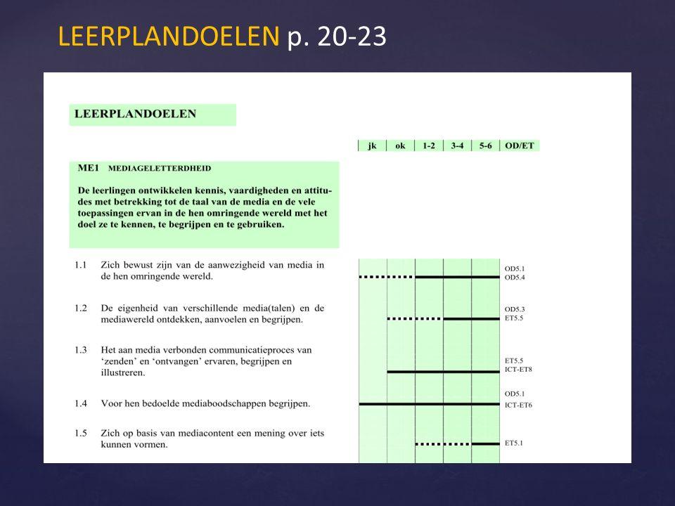 LEERPLANDOELEN p. 20-23