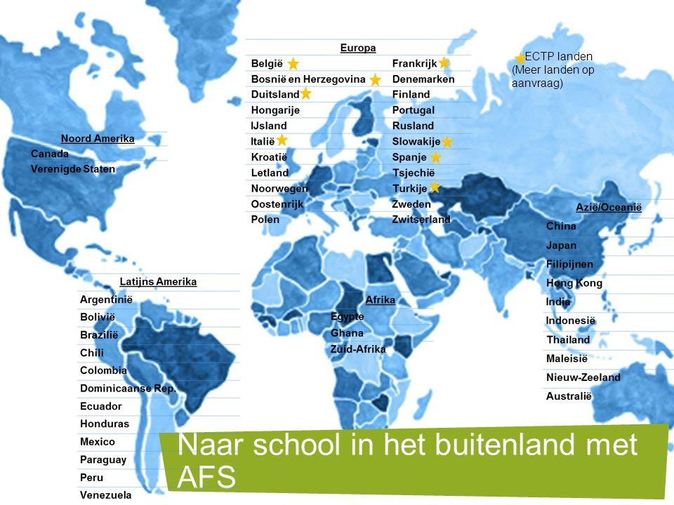 Naar school in het buitenland met AFS ECTP landen (Meer landen op aanvraag)