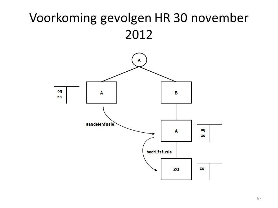 Voorkoming gevolgen HR 30 november 2012 67