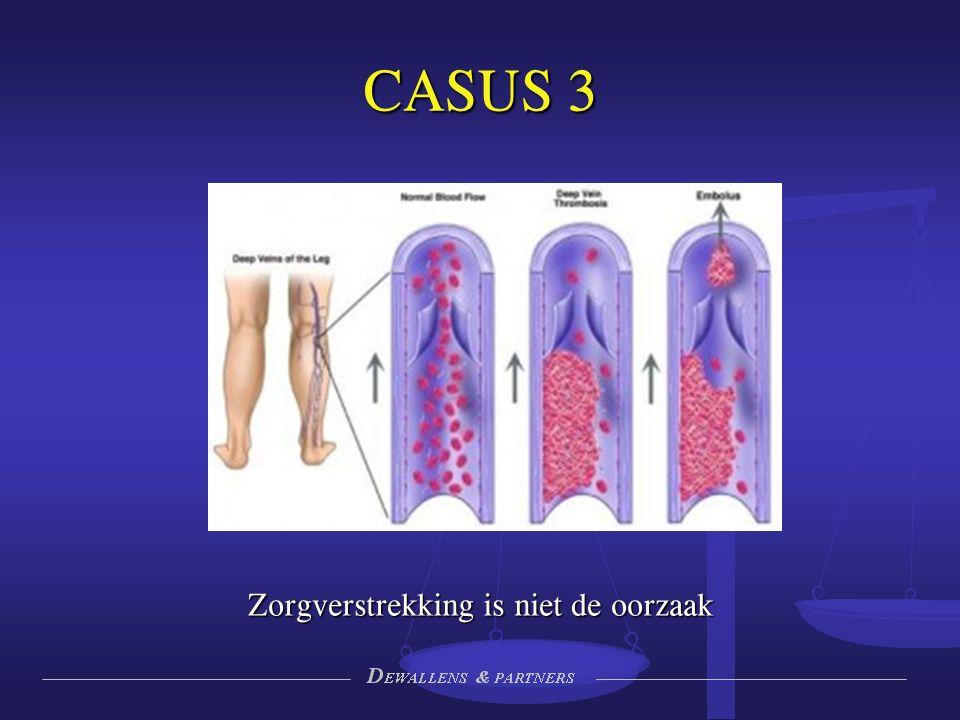 CASUS 3 Zorgverstrekking is niet de oorzaak